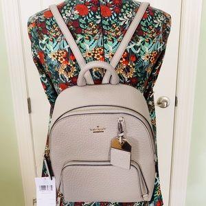 Kate spade Caden Carter soft taupe Backpack Gray